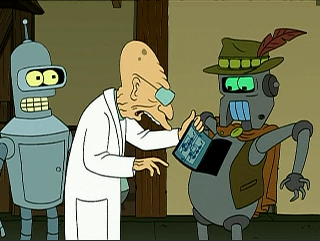 Futurama, how a robot works