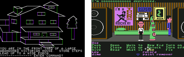 Mistery house and maniac mansion examples